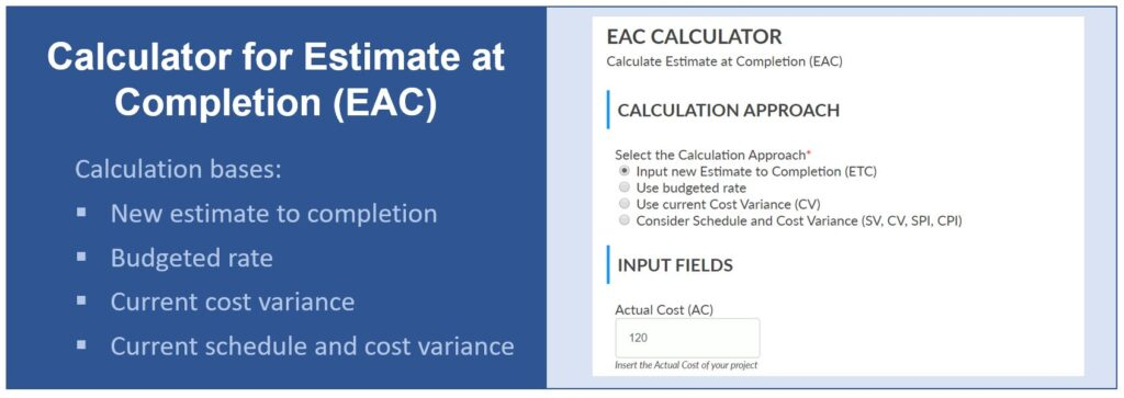 Estimate at Completion Calculator