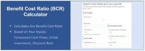 Screenshot Benefit Cost Ratio Calculator