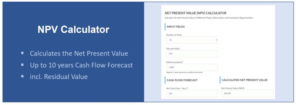 Net Present Value Calculator (NPV)