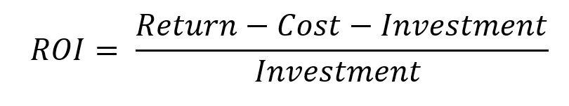 Formula ROI Basic = Return / Investment