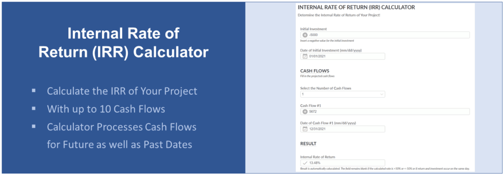 Internal Rate of Return (IRR) Calculator