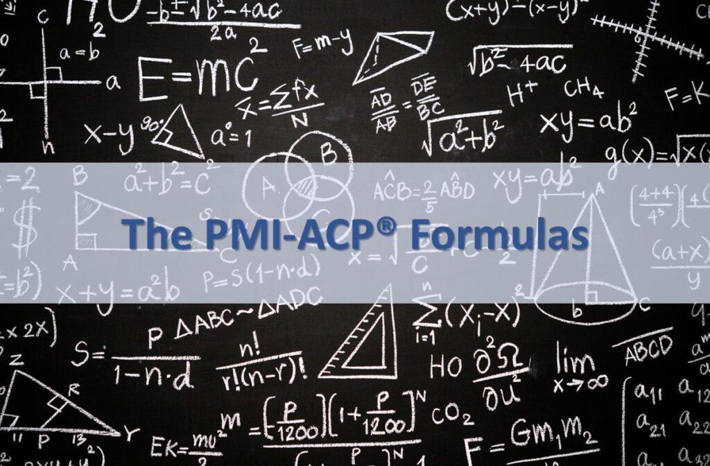 PMI ACP Formulas Title Image