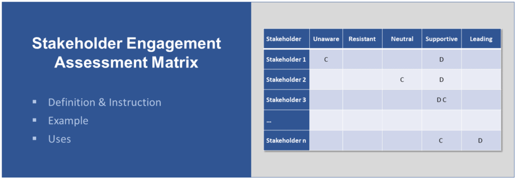 Title and Example of Stakeholder Engagement Assessment Matrix
