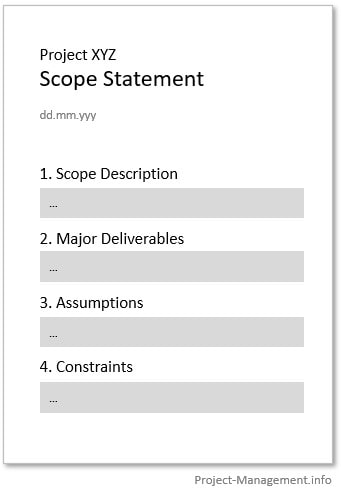 example project scope statement